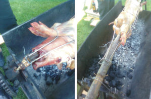 Spanferkl vom Holzkohlengrill - Catering & PartyService